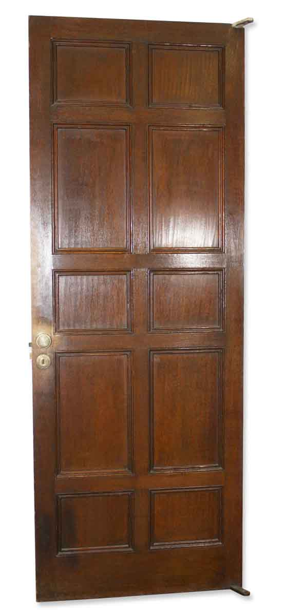 Doors - Antique 10 Pane Wood Mirrored Back Closet Door 80.25 x 29.75