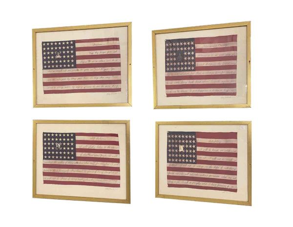 Flags - Set of Four Betsy Nimock 48 Star US Flags