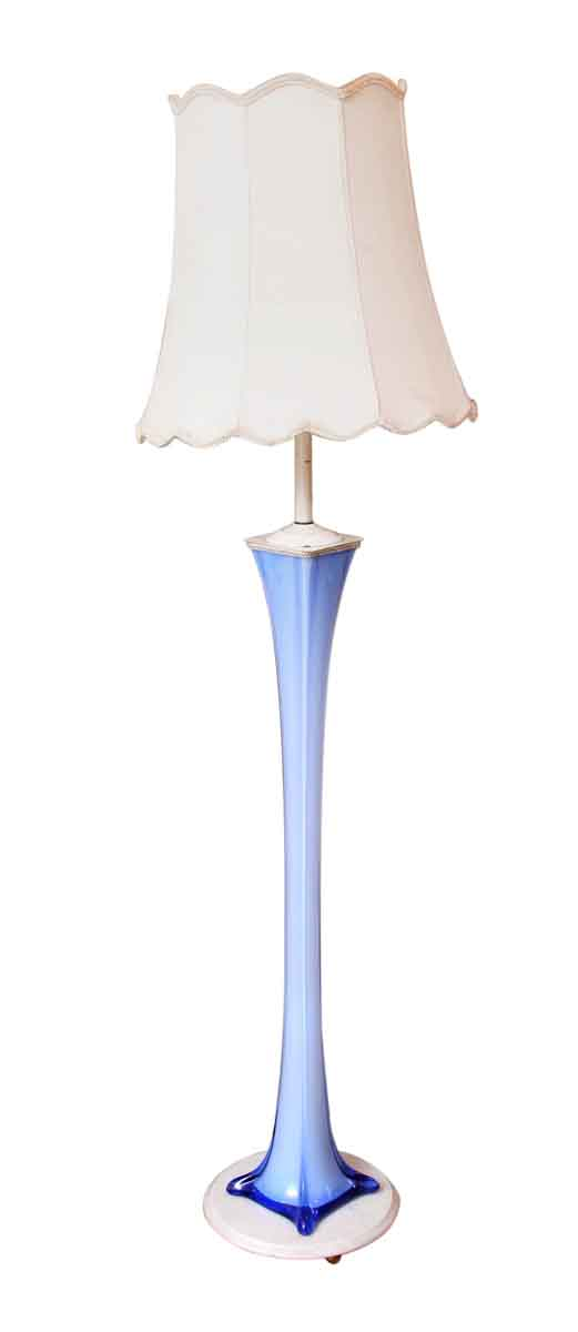 Floor Lamps - 1950s Blue Murano Glass Floor Lamp