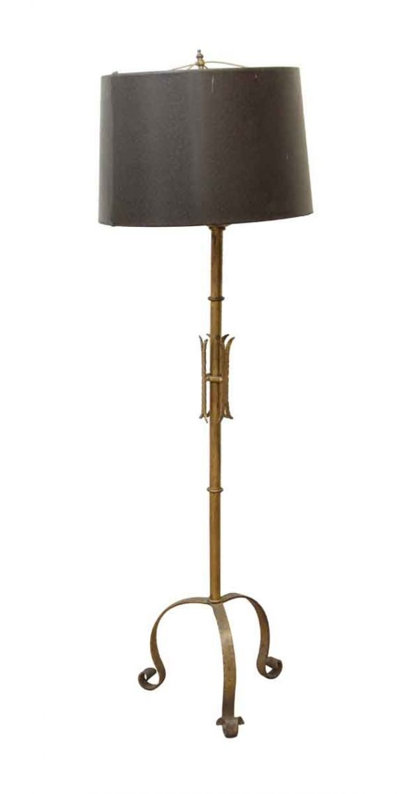 Floor Lamps - Wrought Iron Floor Lamp with Black Shade
