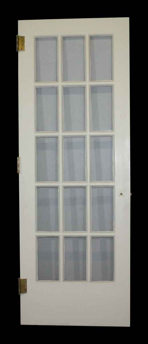 French Doors - Antique 15 Lite White Wood French Door 83 x 29.875