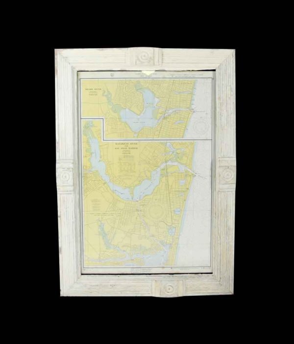 Globes & Maps - Framed First Edition Nautical Map of East Coast New Jersey