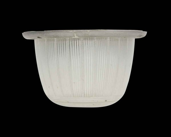 Globes & Shades - 1950s Ribbed Glass Recessed Light Cover