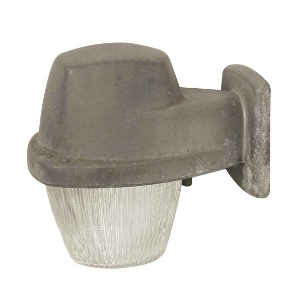 Industrial & Commercial - Exterior Industrial Aluminum Sconce with Holophane Glass