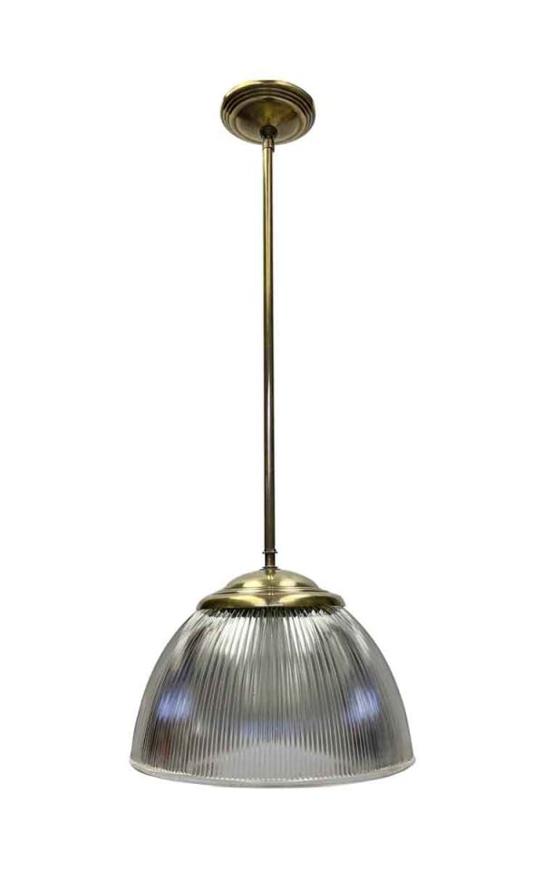 Industrial & Commercial - Holophane Globe Pendant Light with Brass Pole Fitter
