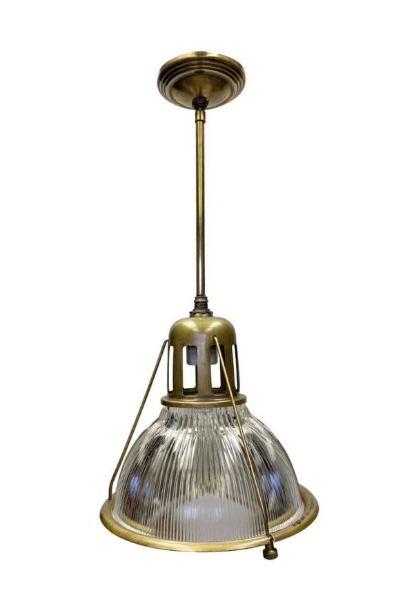 Industrial & Commercial - Industrial Holophane Pendant Light with Bronze Finish