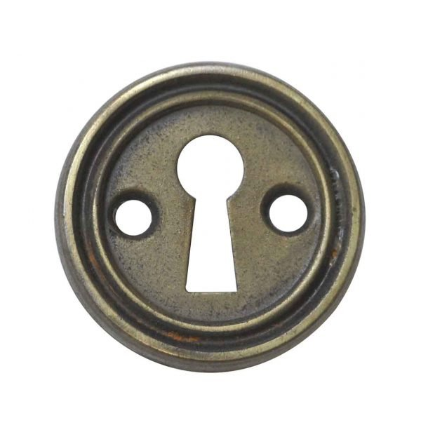 Keyhole Covers - Brass Plated Steel Vintage Keyhole Cover