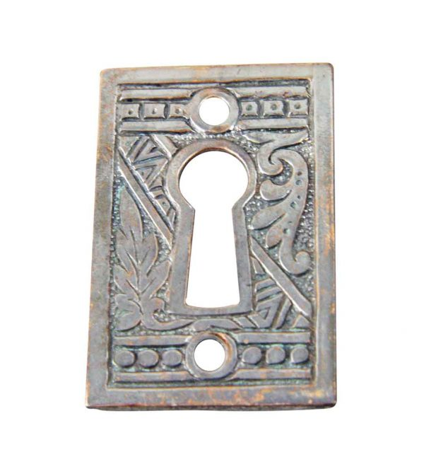 Keyhole Covers - Victorian Nickel Plated Brass Keyhole Cover