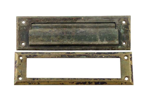 Mail Hardware - Antique Bronze Door Letter Slot Set