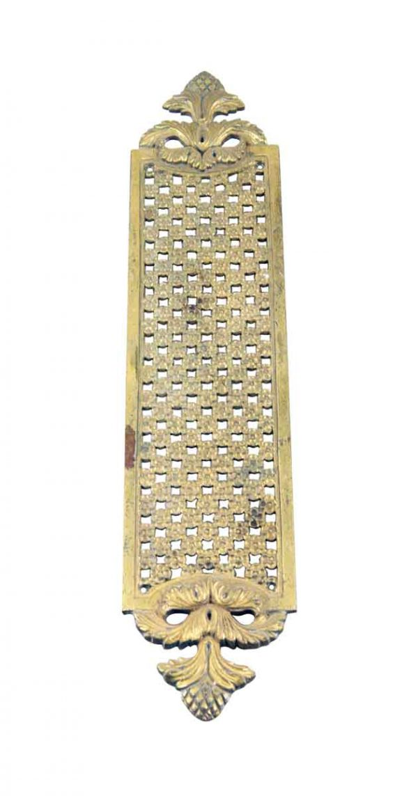 Push Plates - 13.75 in. Ornate Brass French Door Push Plate