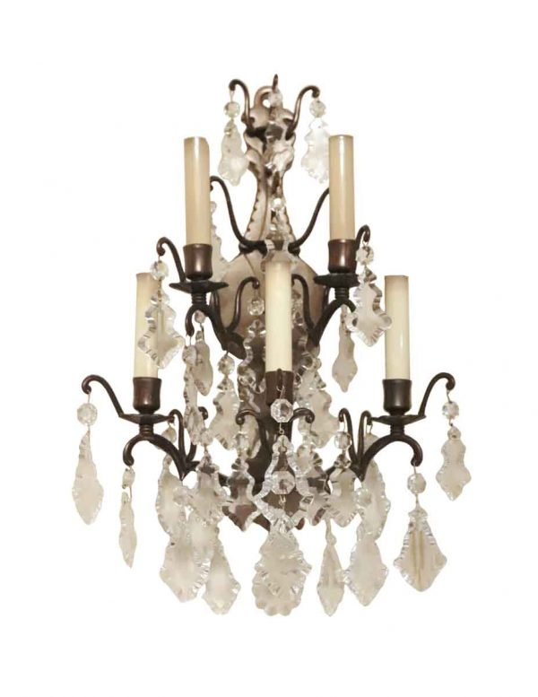 Sconces & Wall Lighting - Waldorf Astoria French Louis the XVI Suite Crystal Sconce
