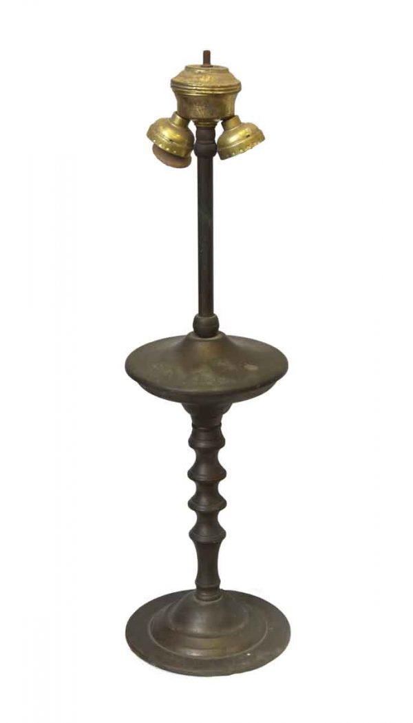 Table Lamps - Traditional Brass Two Bulb Turned Table Lamp