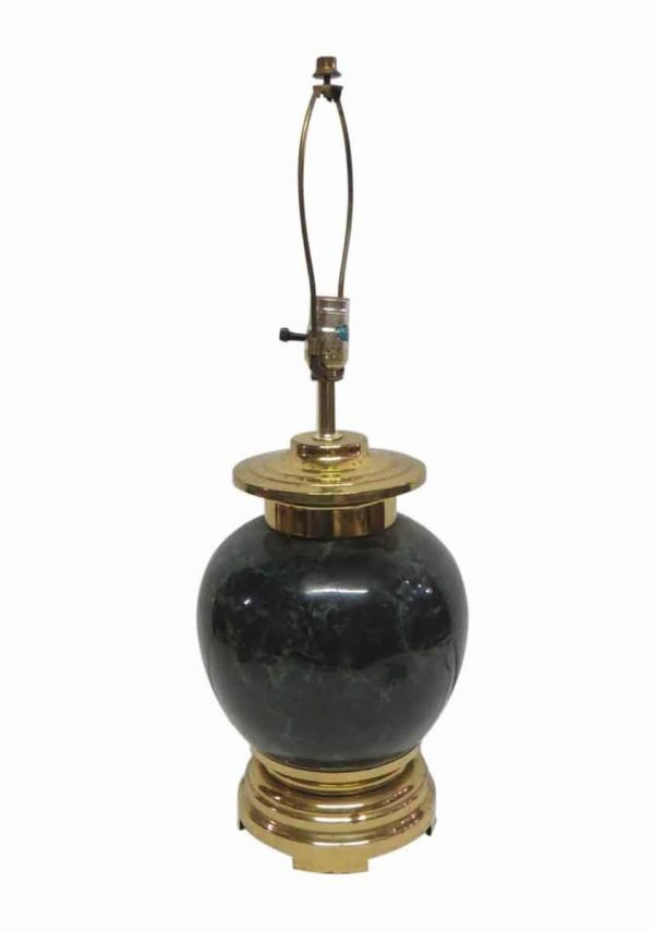 Table Lamps - Traditional Faux Empress Green Glass Table Lamp