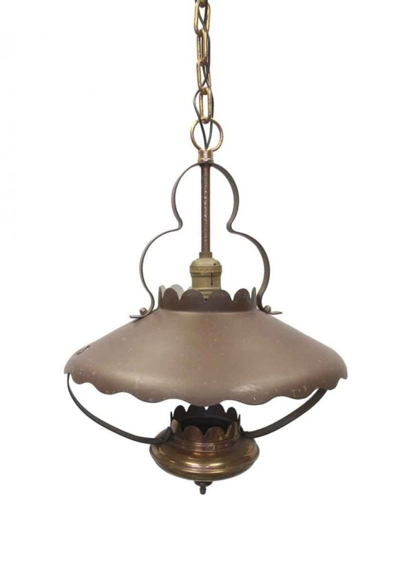 Up Lights - Vintage Metal & Copper Country Lantern Pendant Light