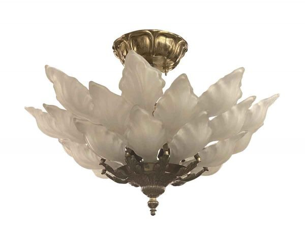 Waldorf Astoria - 1931 Waldorf Astoria Petal Glass 3 Tier Flush Light by Alba Macbeth Evans