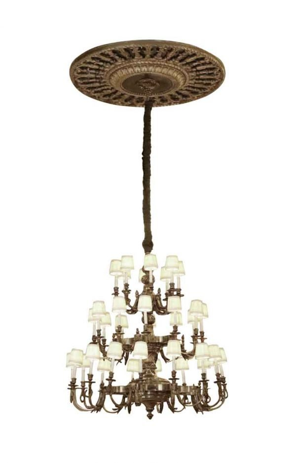Waldorf Astoria - Waldorf Astoria Bronze 48 in. Conrad Suite Chandelier