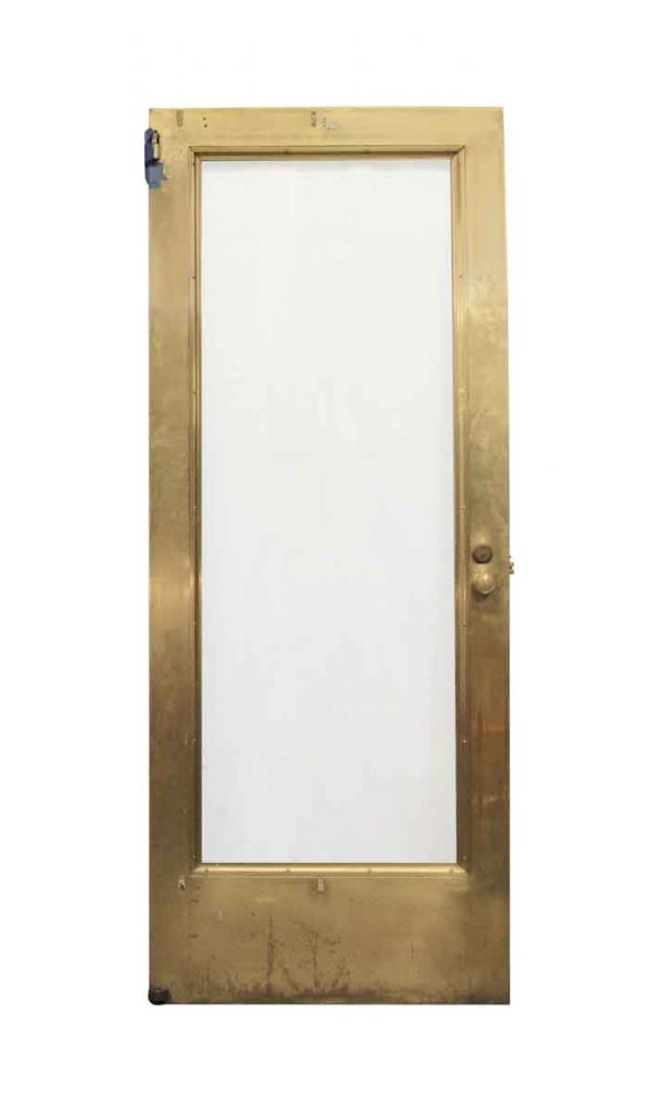 Commercial Doors - Vintage 1 Lite Brass Commercial Entry Door 89.5 x 35.75