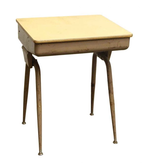 Commercial Furniture - Mid Century Modern School Desk with Hinged Open Top