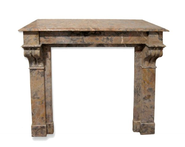 Danny Alessandro Mantels - Antique Brown & Gray French Marble Mantel