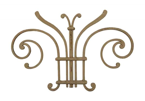 Decorative Metal - 19th Century Wrought Iron Butterfly Piece