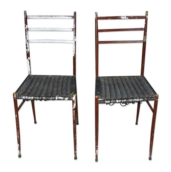 Flea Market - Pair of Vintage Wooden Wicker Chairs