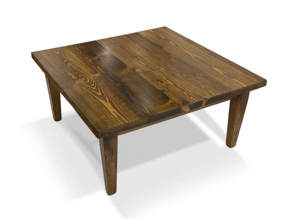 Floor Model Tables - Handmade 3 ft Pine Coffee Table with Provincial Stain & Taperd Legs