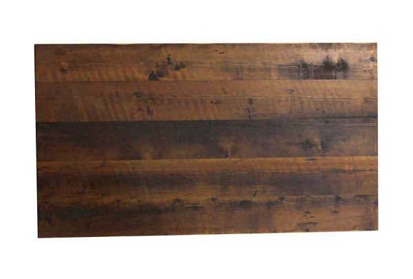 Floor Model Tables - Handmade 5.6 ft Provincial Stained Reclaimed Pine Tabletop