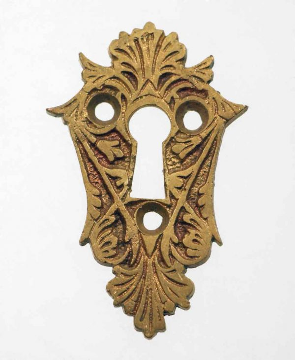 Keyhole Covers - Antique Eastlake Cast Bronze Keyhole Escutcheon