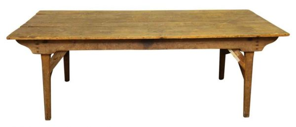Kitchen & Dining - Antique 7 ft Distressed Pine Dining or Work Table