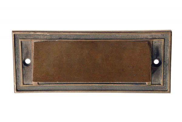 Mail Hardware - Antique Art Deco 8 in. Brass Mail Slot Cover