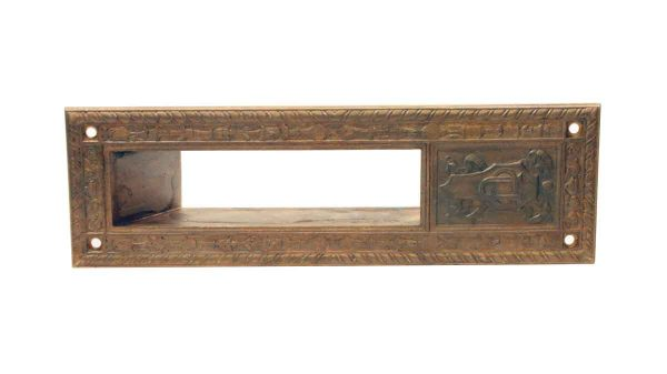 Mail Hardware - Antique Yale Brass Emblematic UC Letter Slot