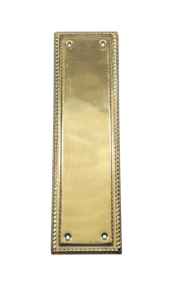 Push Plates - Vintage Polished Brass 11.875 in. Rope Door Push Plate