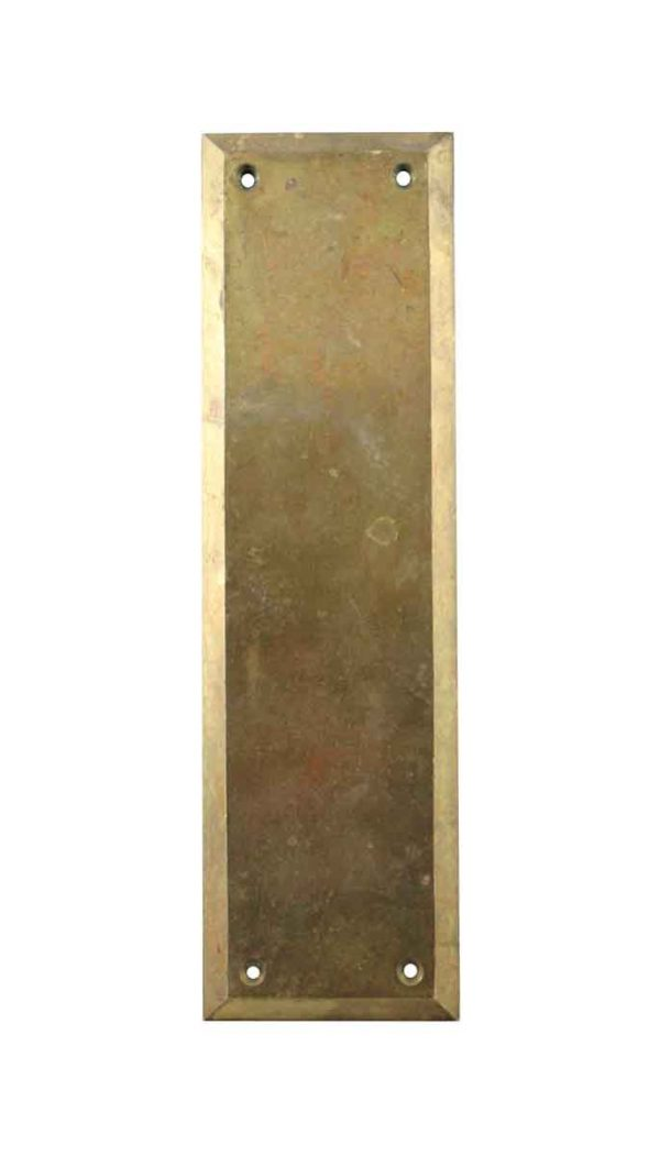 Push Plates - Vintage Yale 12 in. Polished Brass Door Push Plate