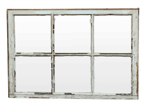 Reclaimed Windows - Reclaimed 6 Pane Wooden Window 40.25 x 27.625