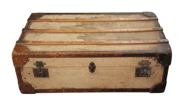 Trunks - Vintage Flat Top Shipping Wood Trunk