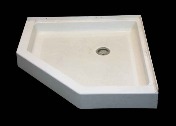 Bathroom - Reclaimed Neo Angle White 36 in. Hard Plastic Shower Tray