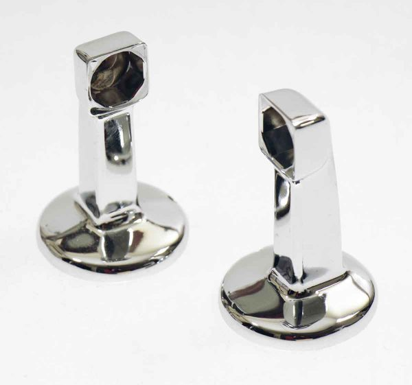 Bathroom - Vintage Hoover Chrome Surface Mount Towel Brackets