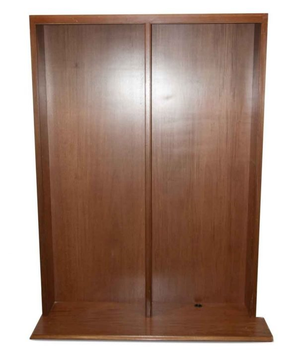 Bookcases - Reclaimed 6.5 ft Dark Wood Tone Built In Bookcase