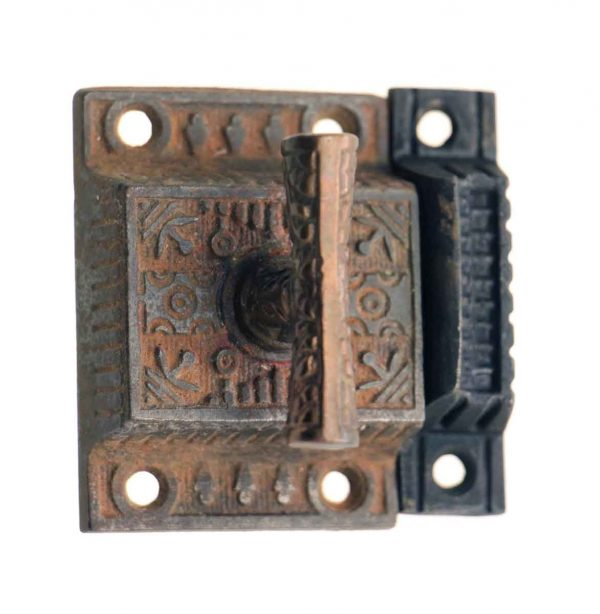 Cabinet & Furniture Latches - Antique Aesthetic Iron Cabinet Latch with T Handle