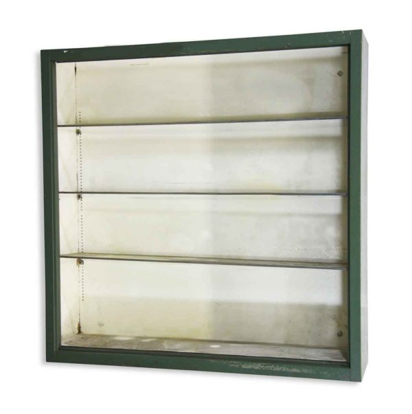 Cabinets - Reclaimed Green Metal 47 in. Surface Mount Cabinet