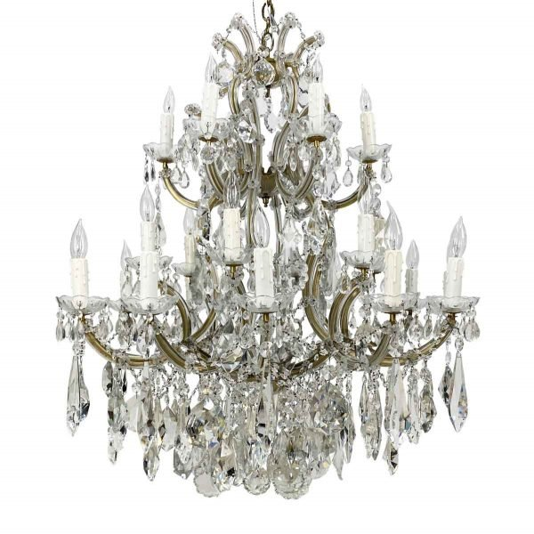Chandeliers - Beverly Hills 24 Light Marie Therese 3 Tier Crystal Chandelier