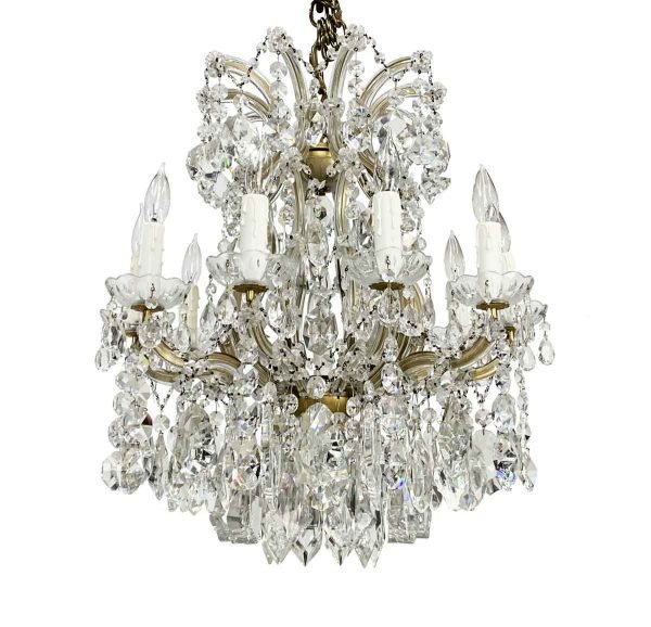 Chandeliers - Beverly Hills Marie Therese 10 Arm Crystal Chandelier