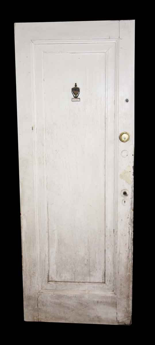 Commercial Doors - Antique 1 Pane White Wood Apartment Door 80 in.