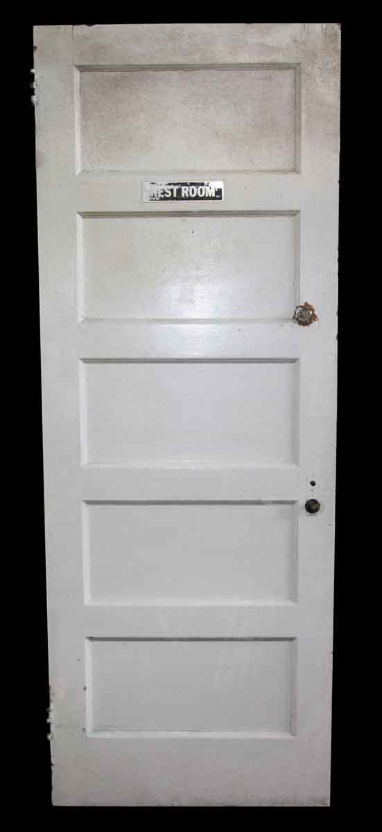 Commercial Doors - Vintage 5 Pane Wood Restroom Door 80.125 x 29.875
