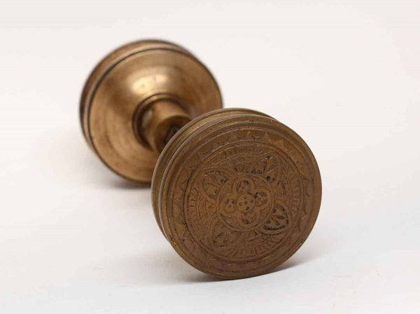Door Knobs - Antique Gothic 4 Fold Bronze Corbin Passage Door Knob