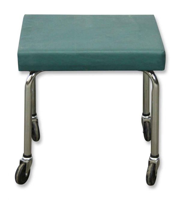 Flea Market - Reclaimed Green Rolling Foot Stool