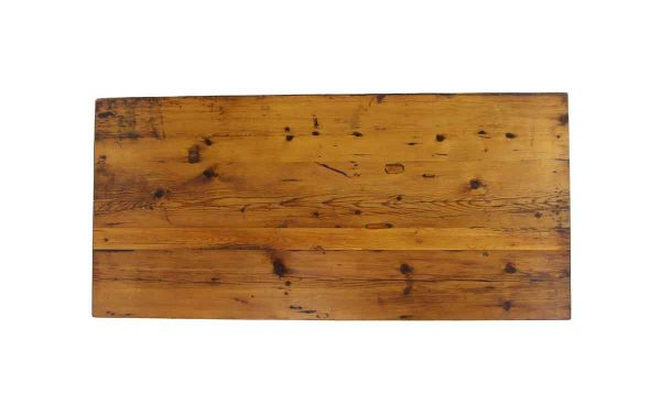Floor Model Tables - Handmade 6 ft Natural Stained Reclaimed Pine Tabletop