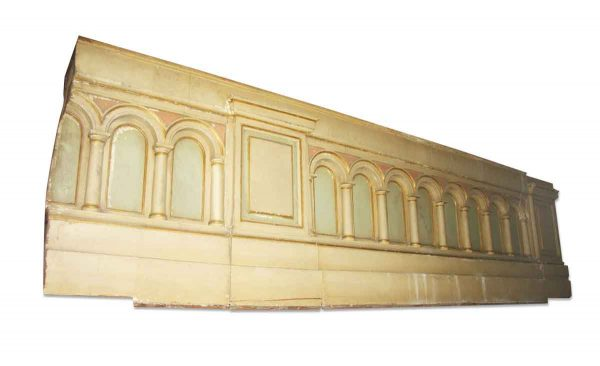 Flooring & Antique Wood - Salvaged 12 ft French Provincial Balcony Wall Panel