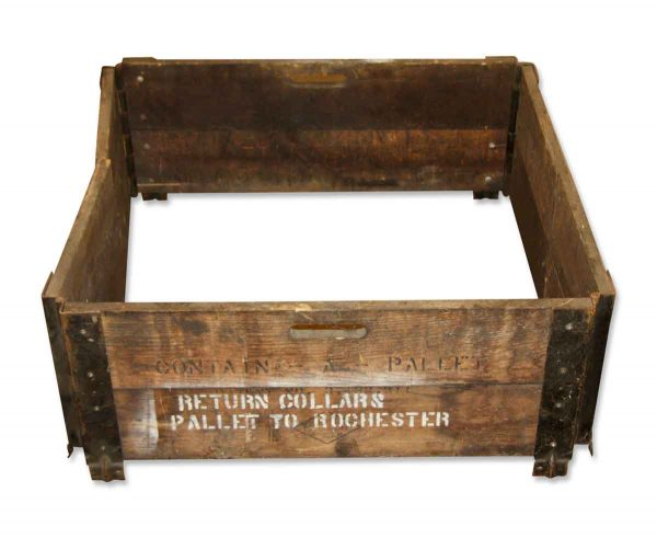 Industrial - Antique Folding 28 in. Square Wooden Pallet Frame