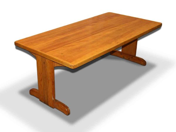 Living Room - Vintage 5 ft Wooden Coffee Table